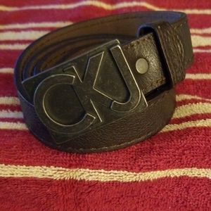 Calvin Klein Jeans Leather Belt